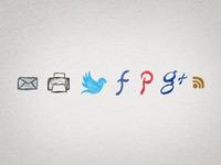 Handdrawn Social Media