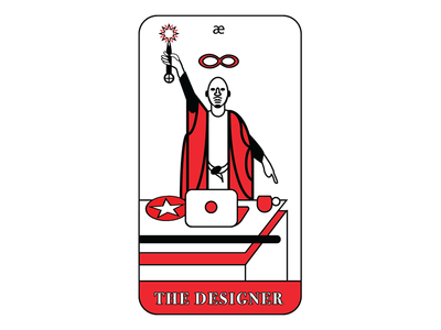 The Designer - Business Card business card occult the magician tarot