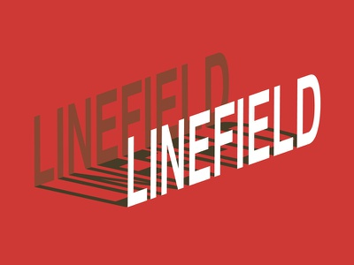 Linefield line art logo geometric design