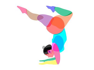 Yoga for Abundant Bodies multi-colored ilustration