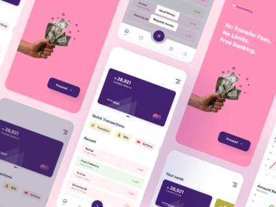 Finance/Banking app concept fintech banking money art cards uxinspiration uiinspiration uiuxdesign mobile app finance figma uxdesign uidesign uiux ux ui minimal