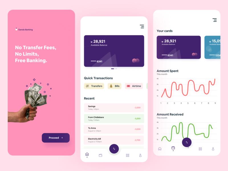 Finance/Banking app concept app uiuxdesigner uidesign uxdesign fintech uiux design ux dailyui dribbble minimal ui
