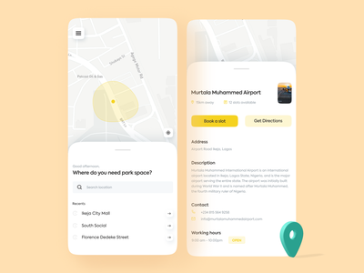 Parking Space App appdesign parking app uidesigns uxdesigns uxdesigner uidesigner uxdesign app uiux app design uidesign minimal dailyui ui ux design