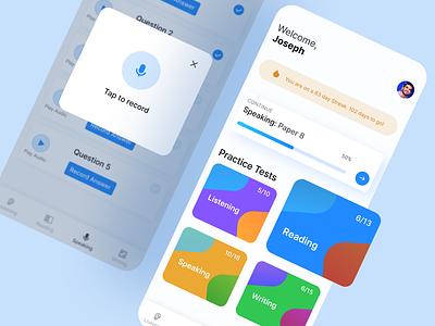 IELTS learning app uiux design uidesignpatterns uidesigner appdesigner appdesign inspo uiuxdesign dribbble uxdesign app app design uidesign dailyui ui ux design