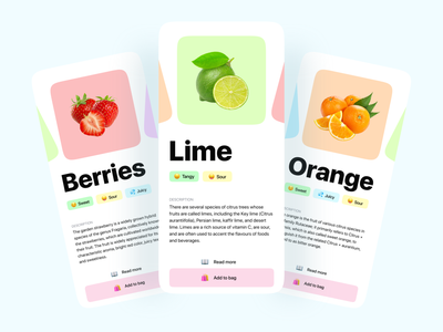 Fruits Shopping App appdesign fruit uiuxdesign uxdesign uiux app app design uidesign dailyui ui ux design