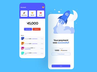 Payment app uiuxdesign payment app payment app uxdesign minimal app design uiux uidesign dailyui ui ux design