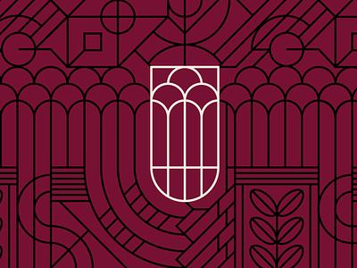 Third Coast Botanical Pattern identity logo design logo brand design branding