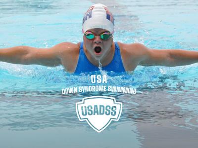 USA Down Syndrome Swimming Rebrand identity logo design sports athlete down syndrome olympics swimming logo branding