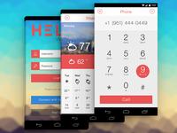 VoIP App Mockup