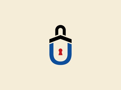 Lock Logo U u letter logo u lock logo lock logo u logo design logo