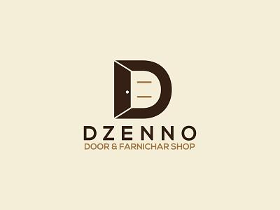 D Farnichar Door Logo d mark dzenno logo dzenno logo door logo creative logo wordmark logo icon coloring logo vector minimal branding illustration design d letter farnichar logo d logo logo