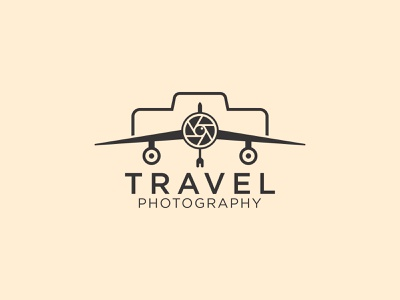 Travel Phhotography Logo icon wordmark logo travel logo travel app creative logo minimal branding vector illustration design logo