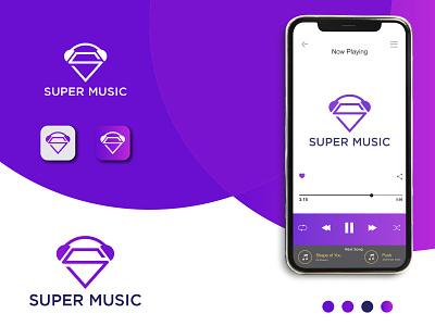 Super Music Logo music logo design presentation design music icon app icons app logotype creative logo icon coloring logo vector minimal branding logos music logo logo