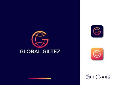 Global Logo Design app logo gradient logo graphic design world logo best logo gradient global logo typography logo design creative logo coloring logo vector illustration minimal branding design logo