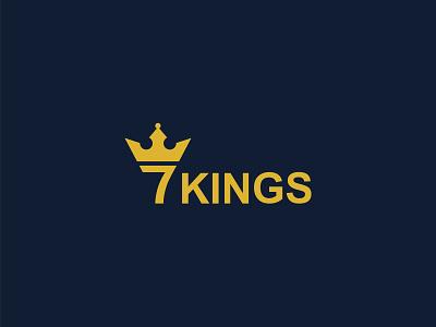 7 kings Logo coloring logo illustration minimal creative design creative logo luxary king logo luxary logo 7 king logo 7logo king best king logo king logo branding design logo