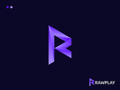 Letter Logo R and Play r play creative logo wordmark logo icon coloring logo vector minimal illustration branding design letter logo logo