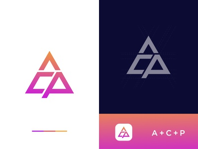 ACP Logo creative logo wordmark logo icon coloring logo vector minimal illustration branding design logo