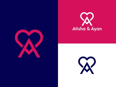 Letter A Love Logo atisha logo ayan logo a love icon love icon logo love lovely logo logos logo design ux ui creative logo typography logotype minimal branding letter logo mark love a logo love logo design logo