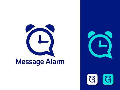 Message Alarm App logo ui ux typography illustration vector coloring logo creative logo best logo message alarm app logo alarm app logo message alarm logo message app logo graphic design message logo alarm logo app logo minimal branding design logo