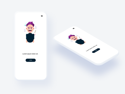 Mobile Design: Simple isometry isometric mobile app design