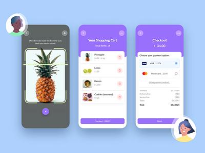 Fastly - A smart supermarket checkout scanner design-challenge checkout shopping adobexd ui
