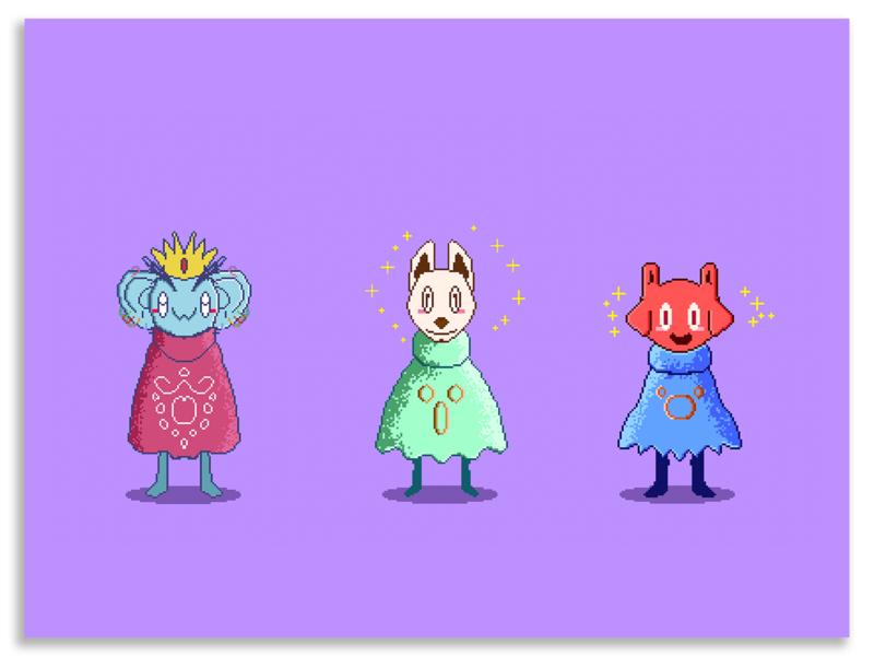 👾Pixel arts/Characters 👾 2/3 pixelart pixel ilustracion illustrationforsale digital artwork digital art artworkforsale characterdesign artwork illustration