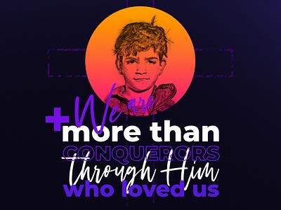 We are more than conquerors typography design church marketing church design
