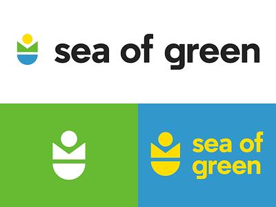Sea of Green Logo a2 regular sea of green identity sea sun earth flower geometry logo