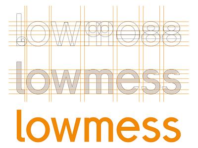 [WIP] lowmess Wordmark v2 sans-serif geometric wordmark logotype lettering typography wip