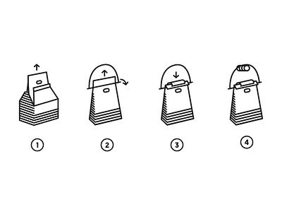 Hanger Instructions monoweight single-color illustration diagram instructions