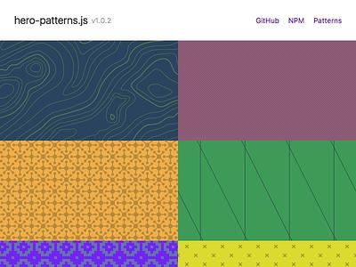 hero-patterns.js js tachyons random hero patterns