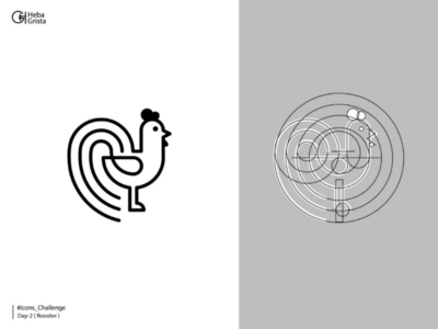 Rooster - icons challenge icons rooster branding