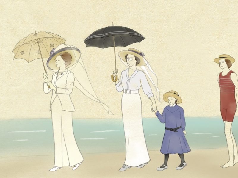 "The image of theMovie"" Death in Venice "" illustration woodblockprint manga ukiyoe 1910sfashion movieillustration"