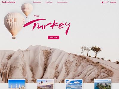 Visit Turkey Landing Page. modern ui branding website web design web design