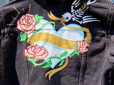 Hand-painted Moto Jacket