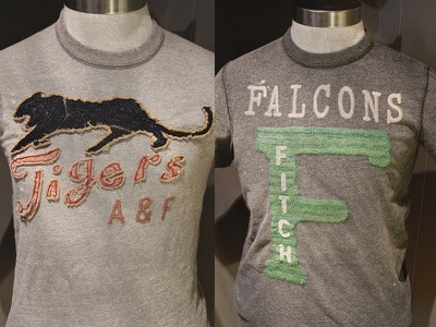A&F Baseball Inspired Tee baseball troy bee vintage heritage graphic design technique appliqué