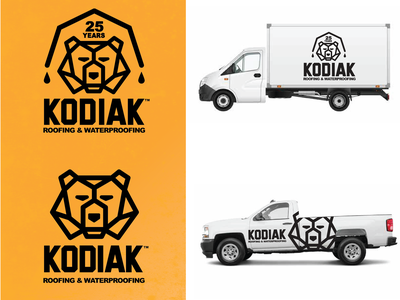 Kodiak Roofing Co. Logo Project marketing icon typography design illustration branding vector logo