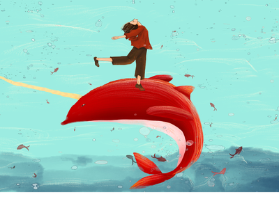 Frist animation flat web design ui