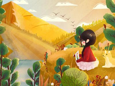 autumn print create illustration