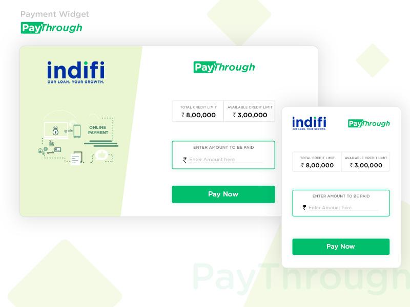 Paythrough Widget responsive illustrator web layout photoshop