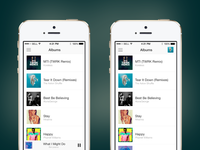 Play It - albums screen