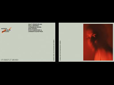 Andrea García Marquez – Visual Identity. photographer logo photography postcards minimal artwork logo graphic design typography design branding