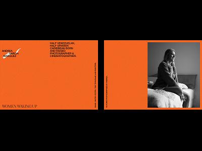 Andrea García Marquez – Visual Identity. photographer logo photographer photography postcard orange artwork logo graphic design typography design branding