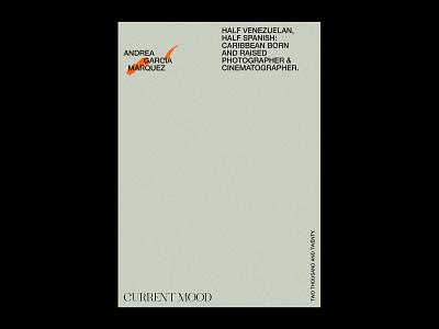 Andrea García Marquez – Visual Identity. photographer logo photographer letterhead minimal artwork logo graphic design typography design branding