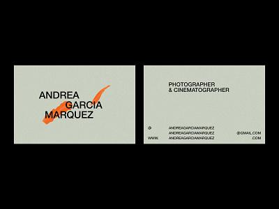 Andrea García Marquez – Visual Identity. photography logo photographer branding photographer logo business card minimal logo graphic design design typography branding