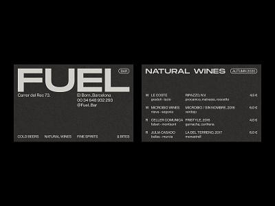 Fuel Bar – Visual Identity. black and white monochrome menu restaurant branding business card logo design graphic design typography branding