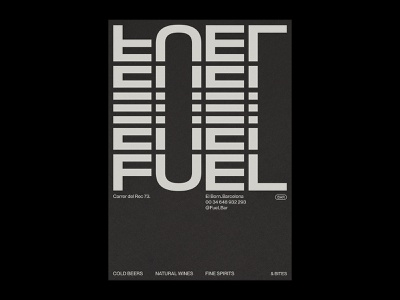 Fuel Bar – Visual Identity. postcard poster bar design bar branding restaurant branding minimal logo graphic design typography branding