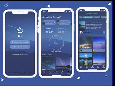 lull bedtime app alarm clock figma design app app design relax sleep bedtime