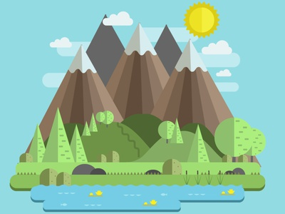 Mountain Lake nature art background design free wild nature illustration illustration illustrator sky hiking mountain lake nature