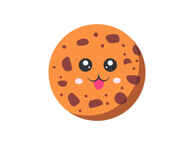Cookie icon design illustrator daily illustration vector food and drink flat food